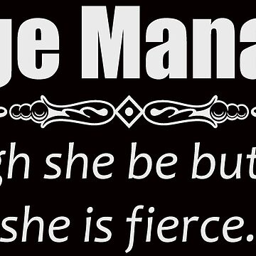 Stage Manager Gifts - Funny Women Assistant Shakespeare Quote by merkraht