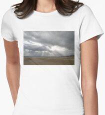 Winter Beach Storm Gift Womens Fitted T-Shirt