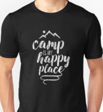 camp is my happy place Unisex T-Shirt