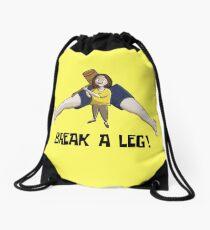 Break a Leg Drawstring Bag