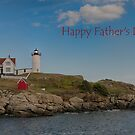 Nubble Lit Up - Happy Father's Day by Judi FitzPatrick