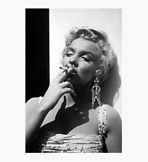 Marilyn Monroe smoking Photographic Print