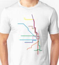 Chicago Transit Map Unisex T-Shirt
