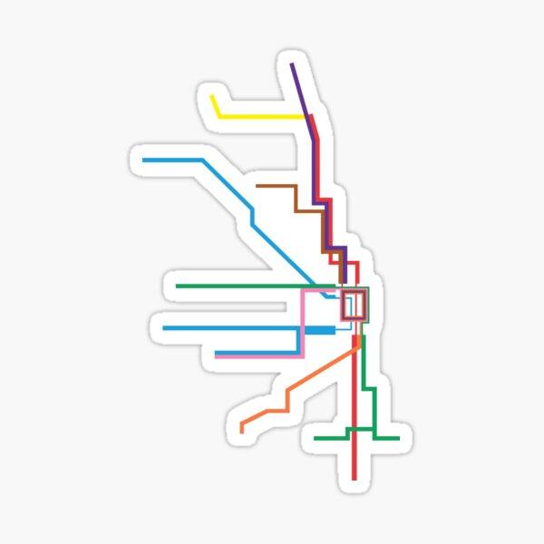 Chicago Transit Map Sticker