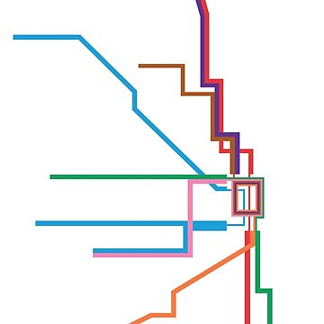 Chicago Transit Map by rayres29
