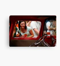 Girls love cars too Canvas Print