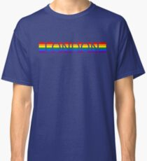 London Pride - Gay Pride Rainbow Stripe Text Classic T-Shirt