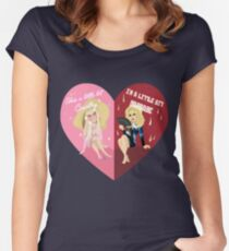 Unhhhh BFFs Women's Fitted Scoop T-Shirt
