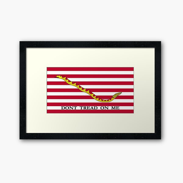 Don't Tread On Me -- First Navy Jack Framed Art Print