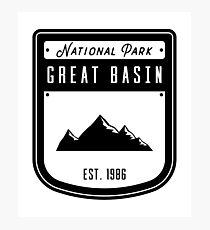 Great Basin National Park Nevada Badge Design Photographic Print