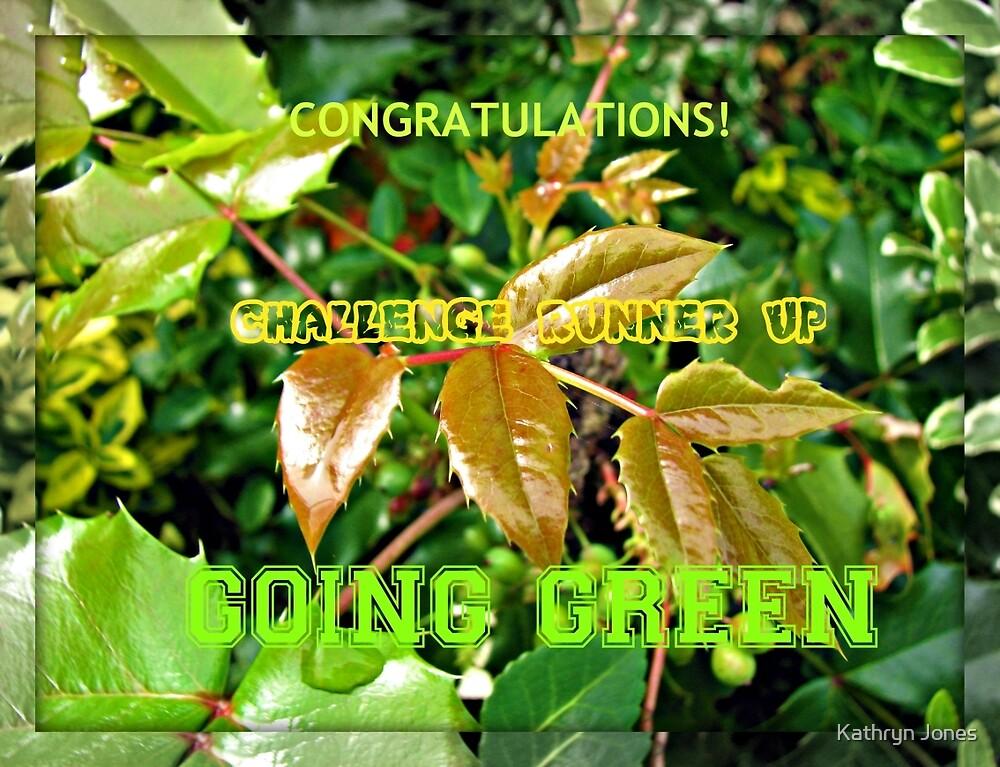 Going Green Runner Up Challenge Banner by Kathryn Jones