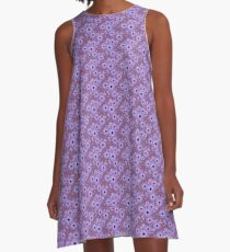 Purple Daisy A-Line Dress