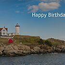 Nubble Lit Up - Happy Birthday by Judi FitzPatrick