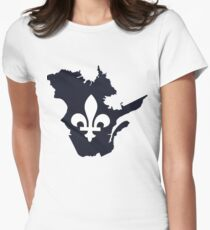 Quebec Map Womens Fitted T-Shirt