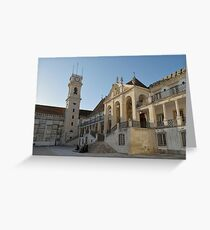 Coimbra University Portugal Greeting Card
