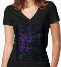USGS TOPO Map Iowa IA Wilton Junction 175768 1953 24000 Inverted Women's Fitted V-Neck T-Shirt