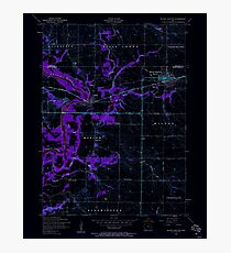 USGS TOPO Map Iowa IA Wilton Junction 175768 1953 24000 Inverted Photographic Print