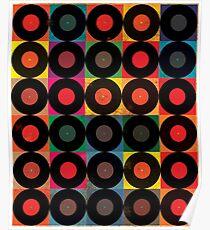 Vintage Schallplattenpaket Poster