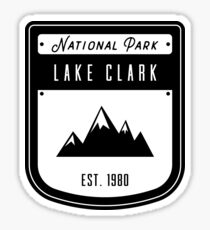 Lake Clark Alaska National Park Badge Design Sticker