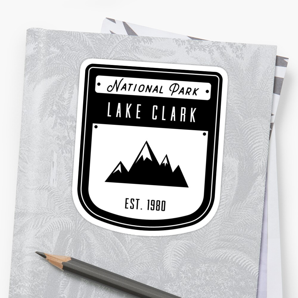 Lake Clark Alaska National Park Badge Design by nationalparks