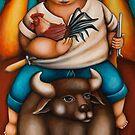 SABONG (HEADING FOR A COCKFIGHT) by palma tayona
