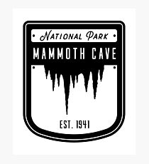 Mammoth Cave Kentucky National Park Badge Design Photographic Print