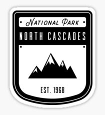 North Cascades National Park Washington Badge Design  Sticker
