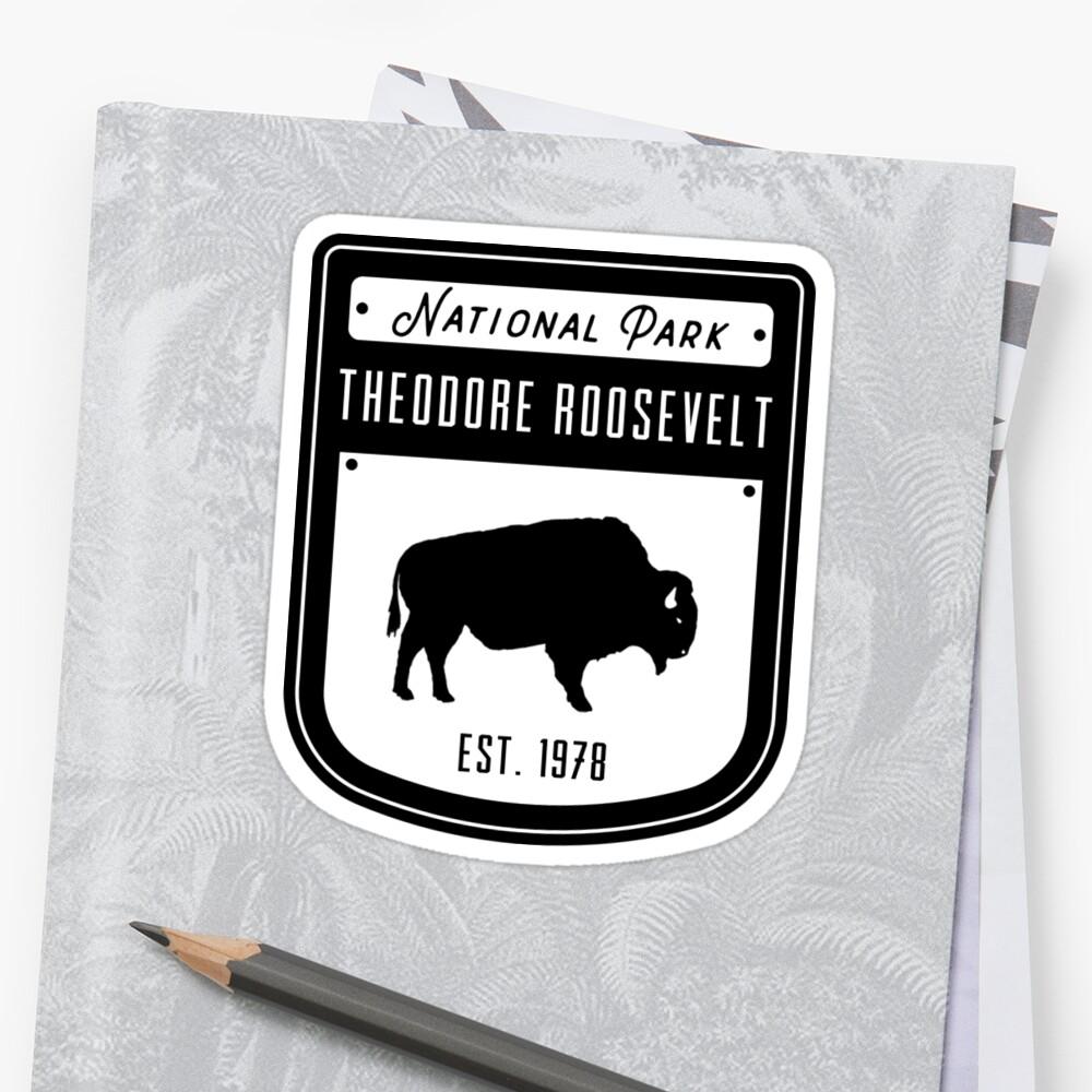 Theodore Roosevelt National Park North Dakota Badge Design by nationalparks