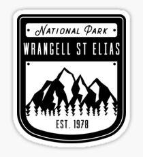 Wrangell St Elias National Park Alaska Badge Design Sticker