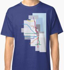 Chicago Transit Map Lake Classic T-Shirt