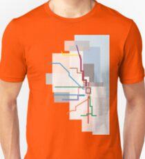 Chicago Transit Map Lake T-Shirt
