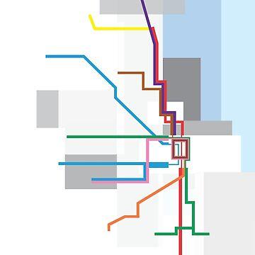 Chicago Transit Map Lake by rayres29