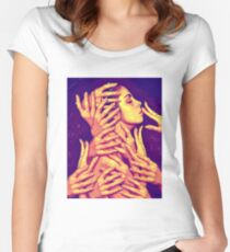 Hands On  Women's Fitted Scoop T-Shirt