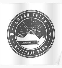 Grand Teton National Park Logo Poster