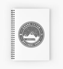 Grand Teton Nationalpark Logo Spiralblock