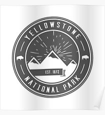 Yellowstone National Park Logo Poster