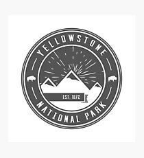 Yellowstone National Park Logo Photographic Print