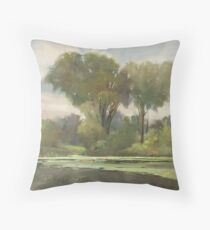 Lake Leota on a Cloudy Day Throw Pillow