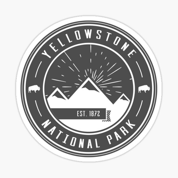 Yellowstone National Park Logo Sticker