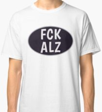 FCK ALZ Oval in Grey (Dark Background) Classic T-Shirt