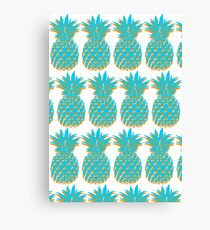 Blue & Orange Pineapple Canvas Print