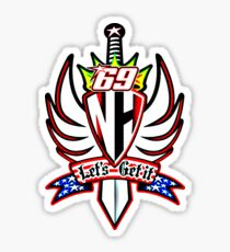 nicky hayden 69 let's get it Sticker
