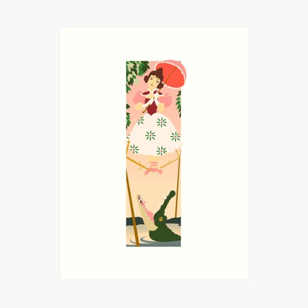 Tightrope Girl Art Print