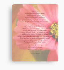 After A While Poem with Flower Background Canvas Print