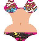 Pirate tattoos summer bikini body by BigMRanch