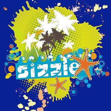 summer sizzle splatter starfish palm trees by BigMRanch