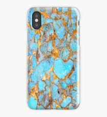 Turquoise and Gold iPhone / Samsung Galaxy Case iPhone Case