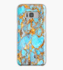 Turquoise and Gold iPhone / Samsung Galaxy Case Samsung Galaxy Case/Skin