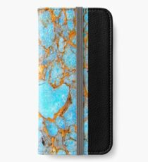Turquoise and Gold iPhone / Samsung Galaxy Case iPhone Wallet