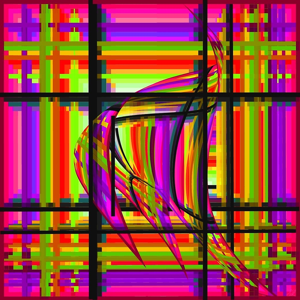 Swimming the Grid in Pink and Purple by spotz